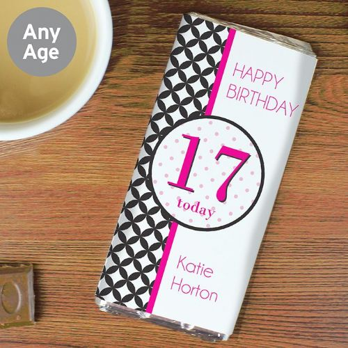 Personalised Harlequin Chocolate Bar
